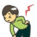 腰痛もちの保育士さんのイラスト