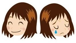保育士さんの笑い顔と泣き顔
