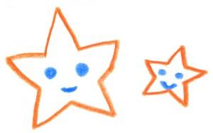 子どもが描いた星のイラスト