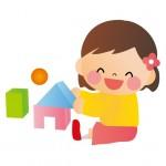 積み木で遊ぶ幼児