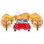 休日のドライブを楽しむ保育士さんと夫