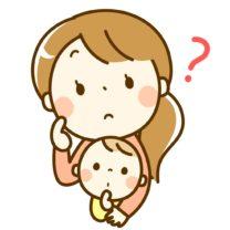 悩む保育士さんと赤ちゃん
