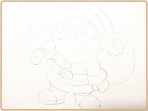サンタさんの下描き