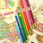 色鉛筆だけで描ける!おたよりや制作に使えるクリスマスイラスト☆
