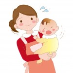 赤ちゃんをあやす保育士