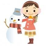 雪だるまと女の子
