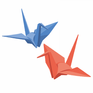 折り鶴イラスト
