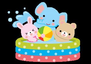 保育園でプール