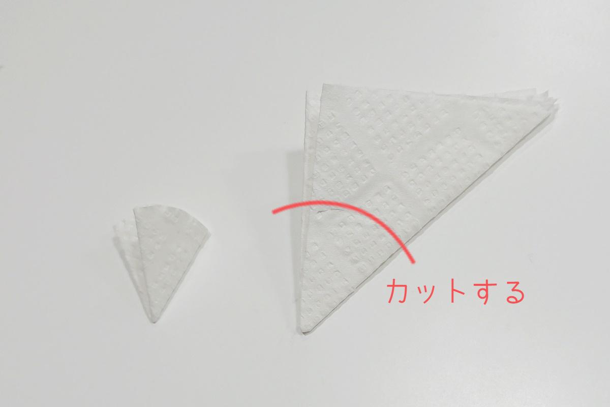 製作過程3/染め紙のアジサイ