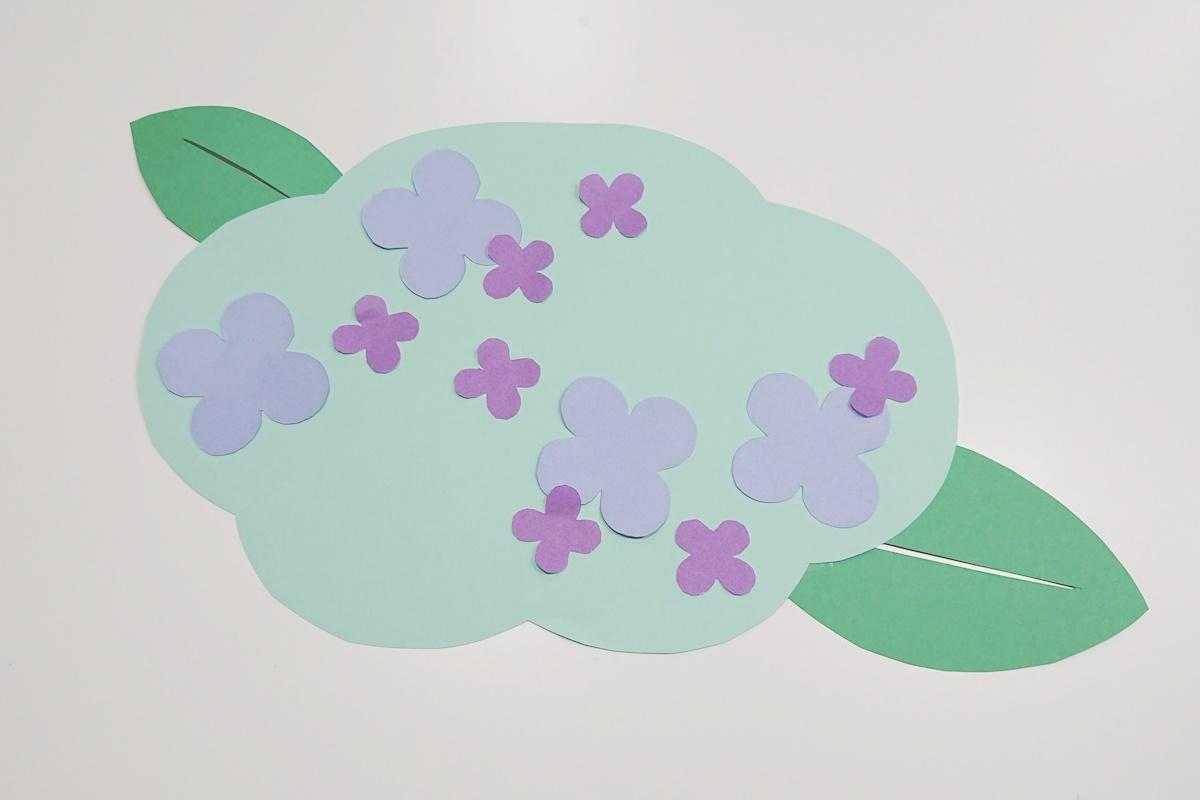 製作過程5/染め紙のアジサイ