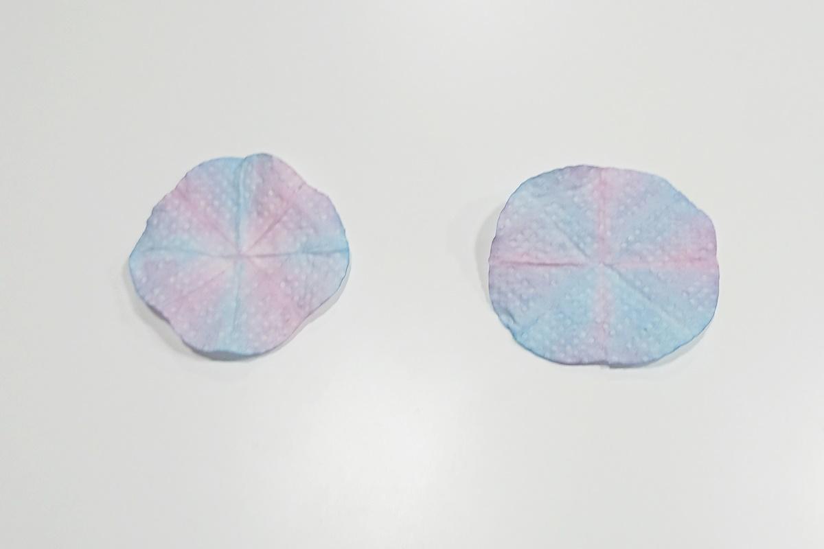 製作過程4/染め紙のアジサイ