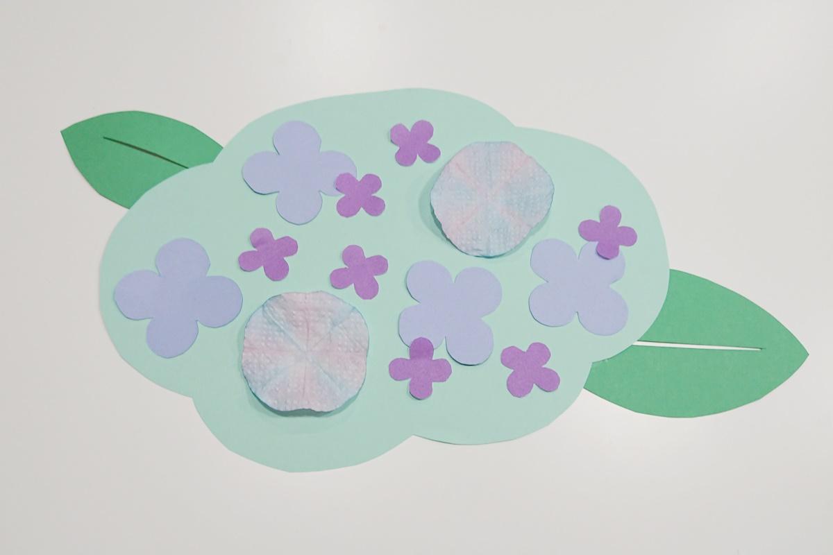 製作過程6/染め紙のアジサイ