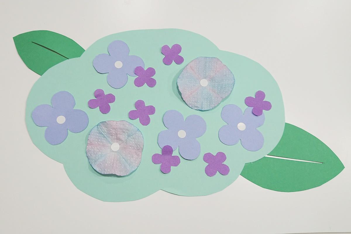 製作例/染め紙のアジサイ