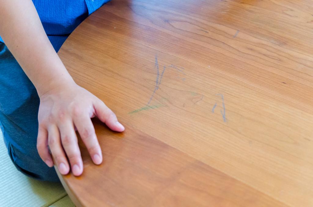 ちゃぶ台と落書き