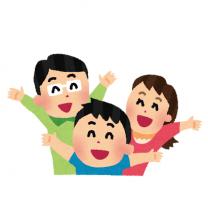 イラスト_笑顔の家族