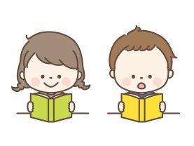 本で調べる子ども達
